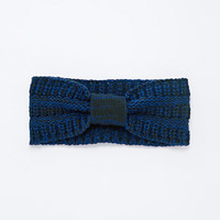 Cable Knit Headwarmer in Navy - Urban Outfitters