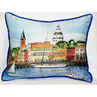 Coastal Home Decor &amp; Gifts - Shop of the Sea  Annapolis City Dock Small Outdoor/Indoor Pillow