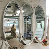 Painted Cottage Chic Shabby Romantic Infinity Mirror MR276