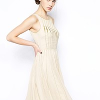French Connection Atlantic Wave Dress with Beading