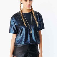 Sister Jane Indigo Ink Sequin Top - Urban Outfitters