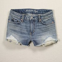 Women's AE Flap-Pocket Denim High-Waisted Shortie - American Eagle Outfitters