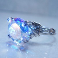 Mercury Mist Topaz Sterling Silver Ring