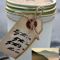 Scented Soy Candles for Coastal Living  OCEAN MIST Scented Soy Candle - 8 oz. Handmade Mason Jar Scented Candle