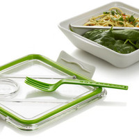 Box Appetit White/Lime Travel Lunch Box