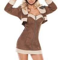 BROWN AVIATOR COSTUME