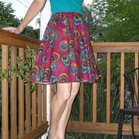 Peacock Skirt Full Circle Skirt Purple Skirt Custom Size Womens Skirt