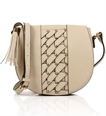 Beige Saddle Handbag