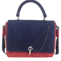 Two Tone Suede Bag