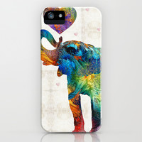 Colorful Elephant Art - Elovephant - By Sharon Cummings iPhone & iPod Case by Sharon Cummings