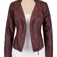 asymmetrical zip Faux leather jacket with zippers