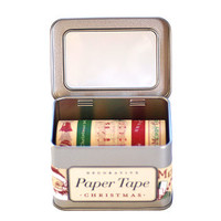 Tin Of Christmas Wrapping Tape