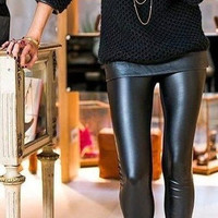 Zoe Leather Look Leggings - Black NOW AVAILABLE! | Daily Chic
