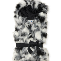 PS from Aero Kids' Faux Fur Hooded Vest - Black,