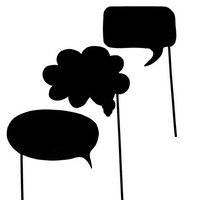 Chalkboard Speech Bubbles On A Stick Wedding Photo Booth Prop Set Of 3
