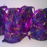 Purple Confetti Party Goody Bags, Birthday Gift Bags
