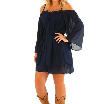 Ride Through The Country Dress: Navy