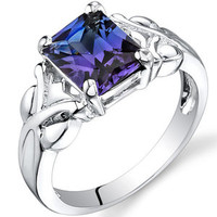 Walmart: Oravo 2.75 carats Radiant Cut Alexandrite Ring in Sterling Silver