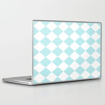 Turquoise Aqua Blue Diamond Laptop & iPad Skin by BeautifulHomes