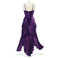 Purple Velvet Bustle Dress - Women's Clothing & Symbolic Jewelry – Sexy, Fantasy, Romantic Fashions