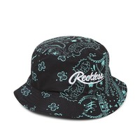 Young & Reckless Big R Bandana Bucket Hat - Mens Backpack - Black/Mint - One