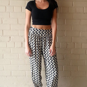 Hatch Print Pant | ZOE Boutique