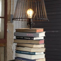 Stacked-Books Table Lamp