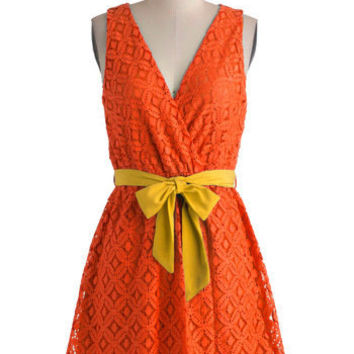 Stylist's Best Palette in Orange | Mod Retro Vintage Dresses | ModCloth.com
