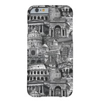 Black and White City Print iPhone 6 Case