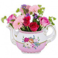 Utterly Scrumptious Teapot Vase