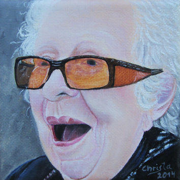 CUSTOM PORTRAIT, ORDER , face portrait, Oil  Painting from Picture, 4x 4in, Birthday Gift, woman, grandmother,  Face, Christmas gift,  art