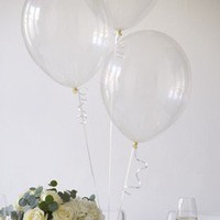Clear Crystal Balloons With Ribbon - Party Balloons - Balloons & Decorations - Kids' Party