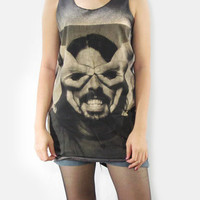 DAVE GROHL Foo Fighters Drummer Nirvana Scream Musician Black Tank Top Women Rock Tunic Top Vest Singlet Sleeveless Rock T-Shirt Size S M