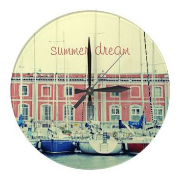 Summer Dream Round Wallclock from Zazzle.com