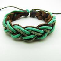 fashion Adjustable leather Cotton Rope Woven Bracelets mens bracelet cool bracelet jewelry bracelet bangle bracelet  cuff bracelet 767S