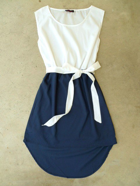 Navy La Sallee Colorblock Dress [2554] - $28.00 : Vintage Inspired Clothing &amp; Affordable Summer Dresses, deloom | Modern. Vintage. Crafted.
