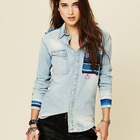 Free People Depiction Denim Buttondown