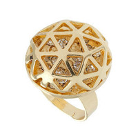 Crystal cage ring - Jewelry  - Accessories  - Dorothy Perkins United States