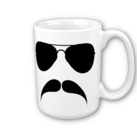 Mustache Aviator Mug from Zazzle.com