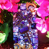 Purple Glam Custom iPhone 4/4S Case