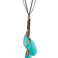 Feather lariat rope necklace - Jewelry  - Accessories  - Dorothy Perkins United States