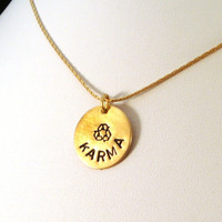 Recycling is Good Karma Necklace - Nugold Brass