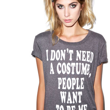 Local Celebrity Costume Tee Charcoal