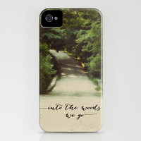 into the woods we go iPhone Case by Beverly LeFevre | Society6