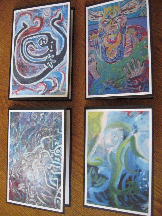 Abstract Womack Art Greeting Cards Set 2