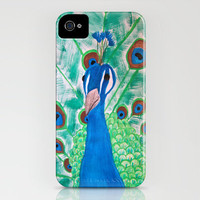 Watercolor Peacock iPhone Case by Kayla Gordon | Society6
