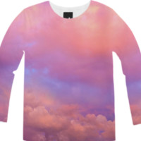 See the Dawn (Dawn Cloud Abstract) Unisex Long Sleeve T-Shirt created by soaringanchordesigns | Print All Over Me