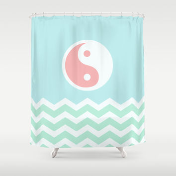 Sun Moon Lake Shower Curtain by BeautifulHomes