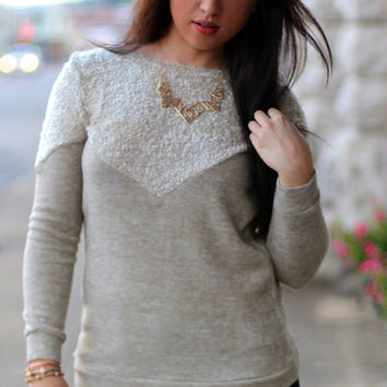 Double Play Sweater {Taupe}
