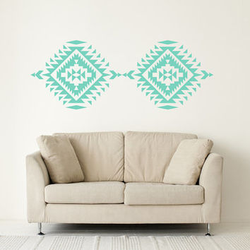 Wall Decal Geometric Navajo Native American Indian Southwestern Trendy Fashion Pattern